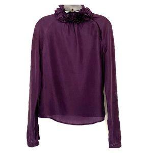 Bally Deep Purple Silk Blouse